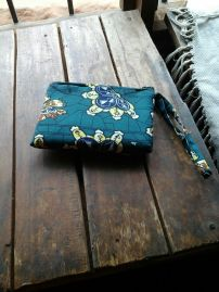 Green Flower clutch