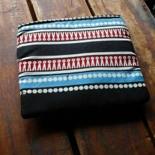 Blue and Print purse