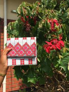 Red print purse